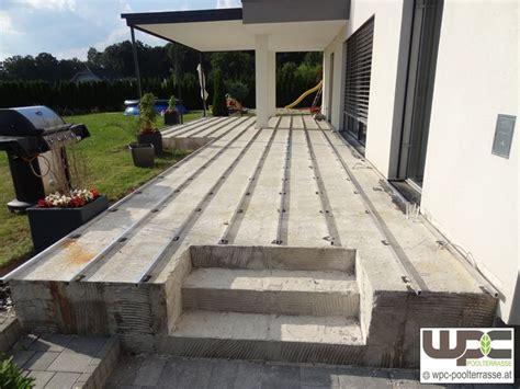 beton fliesen terrasse bilder wpc aluminium alu unterkonstruktion f 252 r