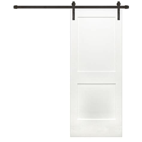 32 X 80 Barn Door by Pacific Entries 32 In X 80 In Shaker 2 Panel Unfinished