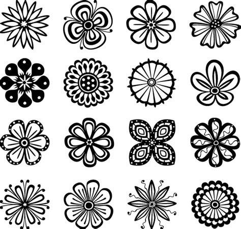线条花朵纹样 素材中国sccnn com