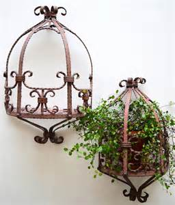 wrought iron shelves for plants two wrought iron hanging shelves or plant stands at 1stdibs