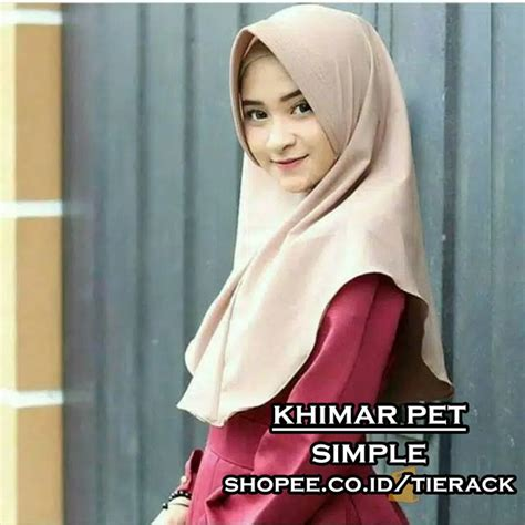 Jilbab Khimar Pet Simple khimar pet simple jilbab instan kerudung simple wolfis