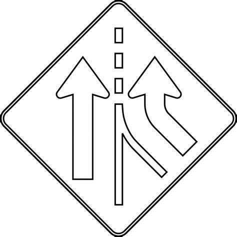 free coloring pages of triangle road signs