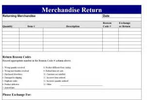 Rma Request Form Template by Return Merchandise Authorization Form Template