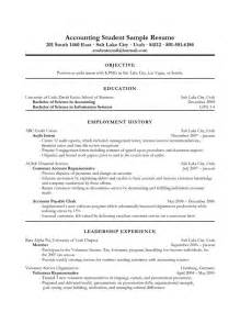 Accounting Student Resume Exles by 25 Best Ideas About Resume Objective Exles On Objective For Resume