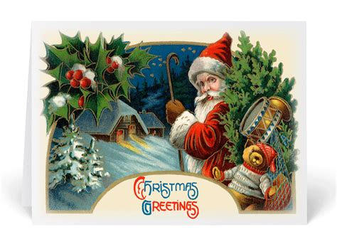 old fashioned vintage santa claus card 36058 harrison