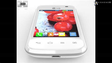 Lg Optimus L1 Ii Stylish Stpu Soft lg optimus l1 ii tri white 3d model from creativecrash
