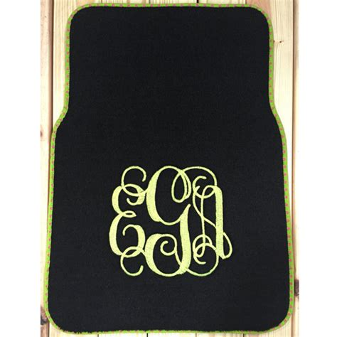 Monogramed Floor Mats by Monogrammed Car Floor Mats Floor Matttroy