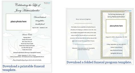 funeral service cards template two free funeral service templates from to