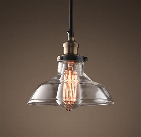 20th century industrial lighting by restoration hardware