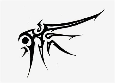 tribal shadow tattoo designs tribal wings pictures