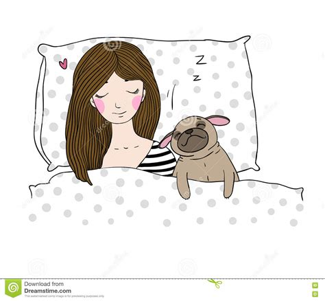 Bargain Of The Week Pink Twirl Pet Pillow by Sleeping Beautiful And A Pug Vector