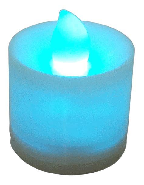 large tea light candles large flameless led tea light candles blue 24pcs
