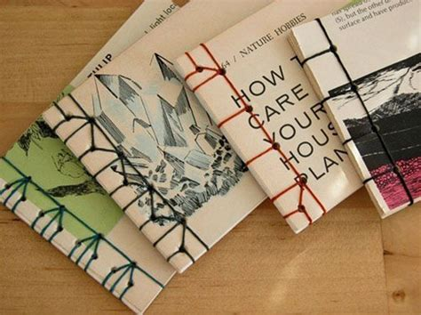 Handmade Book Ideas - green gifts the tiny