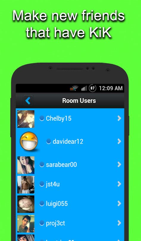 Find To Chat With On Kik Chat Rooms For Kik Android Apps On Play