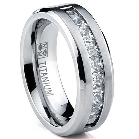 ultimate metals  titanium mens wedding band engagement