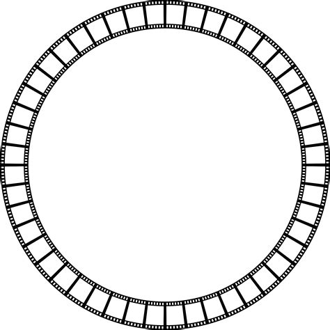 clipart film strip circle frame