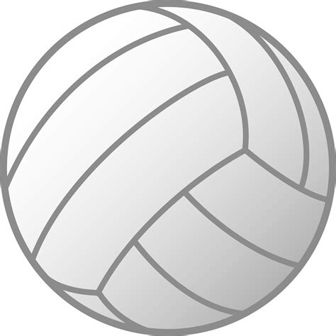 clipart volleyball simple white volleyball free clip art