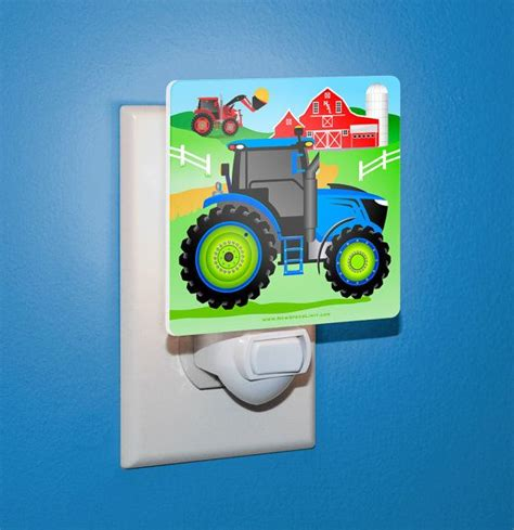 tractor bathroom decor night light kid s farm tractor bedroom bathroom decor