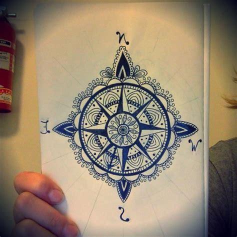 tattoo compass mandala just finish drawing this compass mandala pointing my way