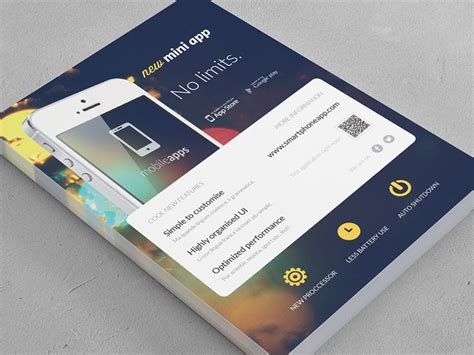 flyer design app for iphone mobile application phone app flyer 2 hexagons flyers
