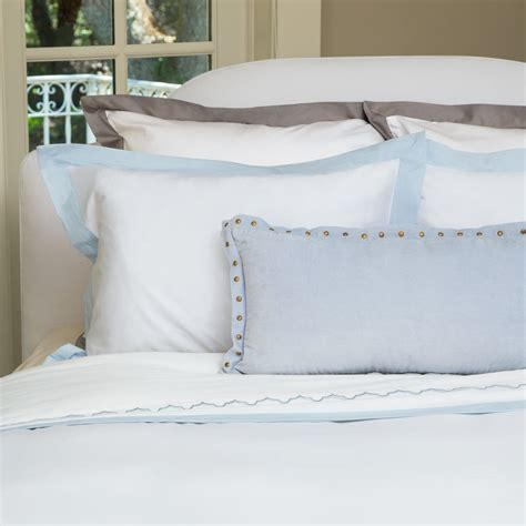 Light Blue And White Duvet Cover Light Blue And White Bedding The Linden Light Blue