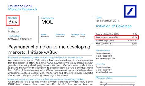 deutsche bank recommendations corporate governance in malaysia mol global deutsche