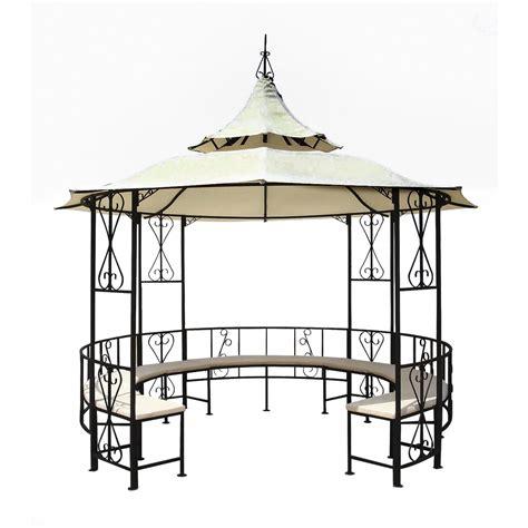 Pavillon Metall Rund by Pavillon Pavillion Metall Rund Bank Rosenspalier 14210 Ebay