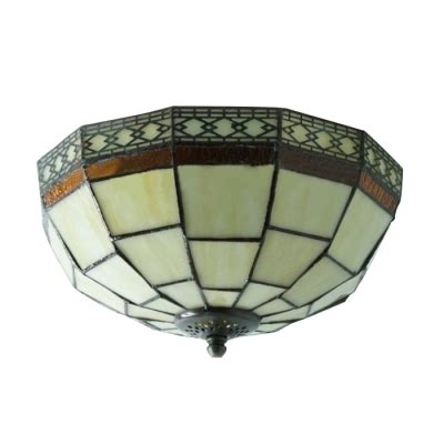 stained glass flush mount ceiling light 10 inch geometric pattern flush mount ceiling light in