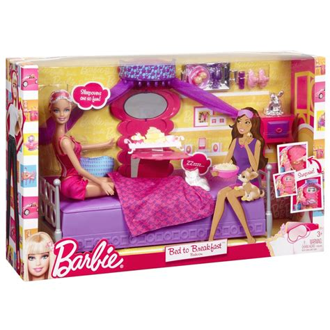 Barbie Dining Room Set by Barbie Bed To Breakfast Bedroom Doll Gamesplus