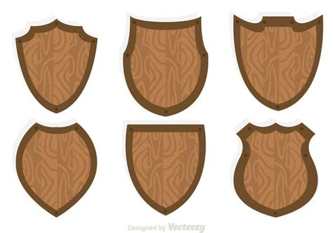 woodworking shield wood shield icon vectors free vector stock
