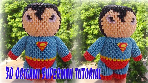 3d Origami Superman - how to make 3d origami superman c 243 mo hacer origami 3d