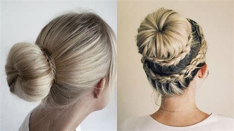 donut with a braid around it hairstyles with a donut for cute donut bun hairstyles