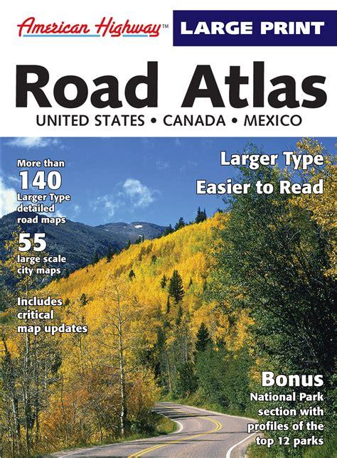 printable road atlas american highway large print road atlas