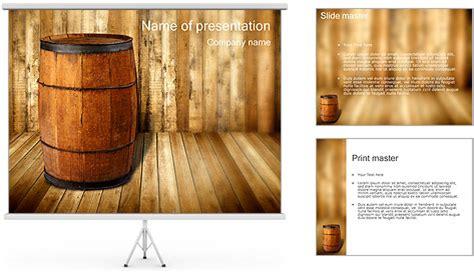 Wooden Barrel Powerpoint Template Backgrounds Id 0000001499 Smiletemplates Com Wooden Barrel Template
