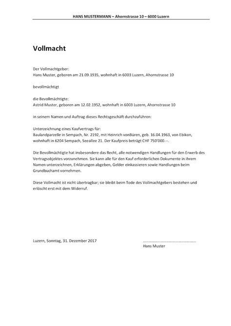 Rechnung Unterschreiben Schweiz vollmacht vorlage schweiz word format muster vorlage ch