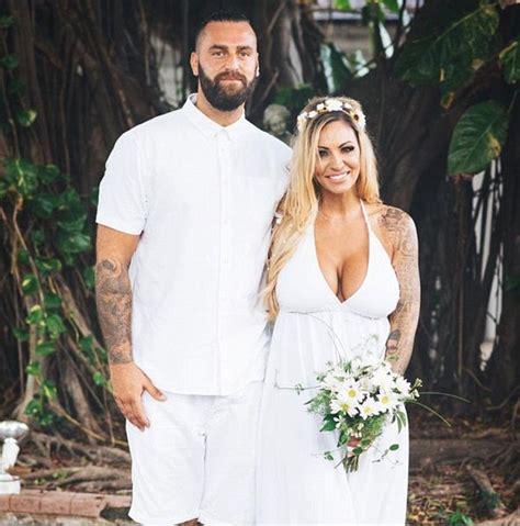 trish stratus jumpsuit jodie marsh shares wedding photos from secret nuptials to
