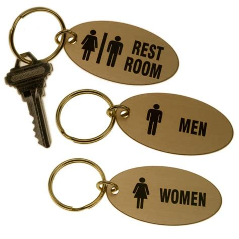 lacquered brass lacquered brass oval key tag for bathrooms