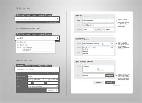 layout form elements web form elements vol 2 really slick search interface