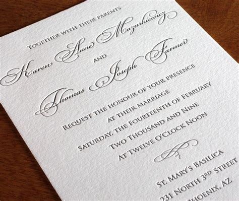 formal wedding invitation exles 25 best ideas about formal invitations on