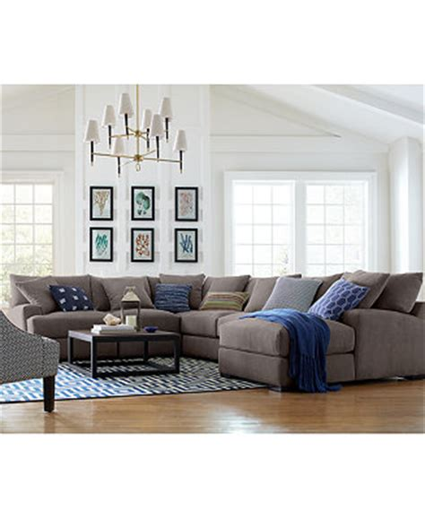 sectional sofas macys rhyder fabric sectional collection created for macy s