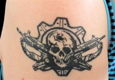 gears of war tattoos gears of war by mj on deviantart