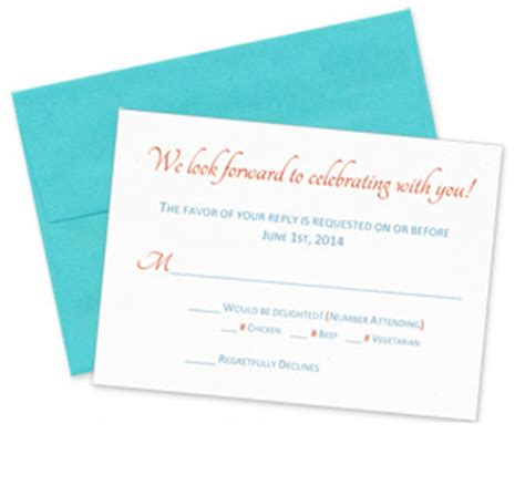 wedding invitation and rsvp card sizes rsvp card size