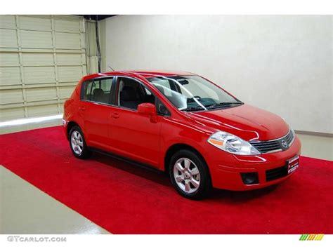 red nissan versa 2009 red alert nissan versa 1 8 sl hatchback 29097393
