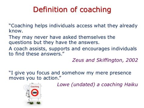meaning of couching coaching for performance ei4change