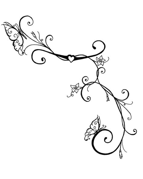 drawing vines pattern ivy vine tattoo design drawings butterfly vines art