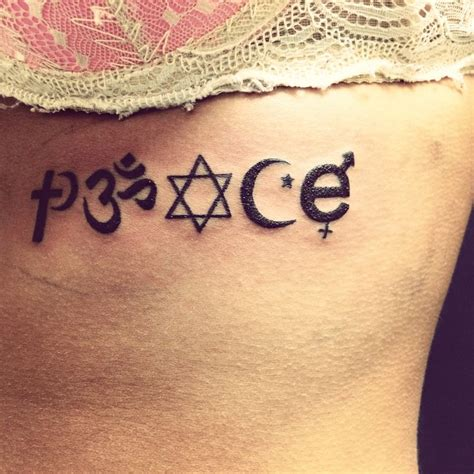 religious symbol tattoos designs best 25 coexist ideas on chakra