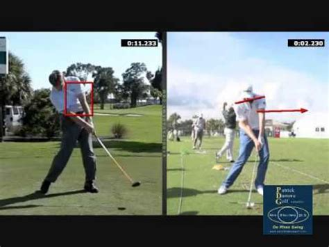 ernie els swing analysis ernie els driver swing face on 720p hd slow motion