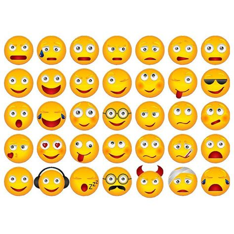 Smiley Sticker Kostenlos by 35 Smileys Wetterfest Je 3 5 Cm Gro 223 1 Sticker Je Motiv