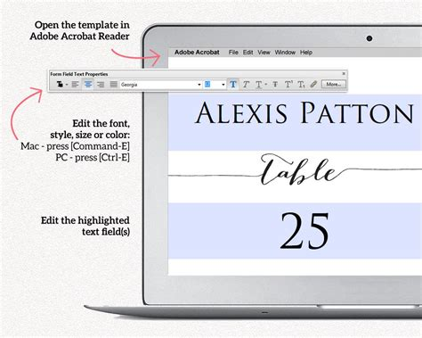 Place Cards With Meal Choice Template by Place Card Template Place Cards With Meal Choice Place