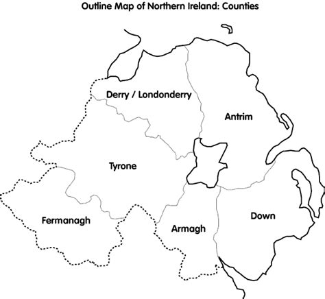 Ie Map Area Outline by Outline Map Of Ireland With Counties